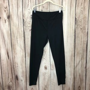 LuLaRoe Soils Black Leggings 2X